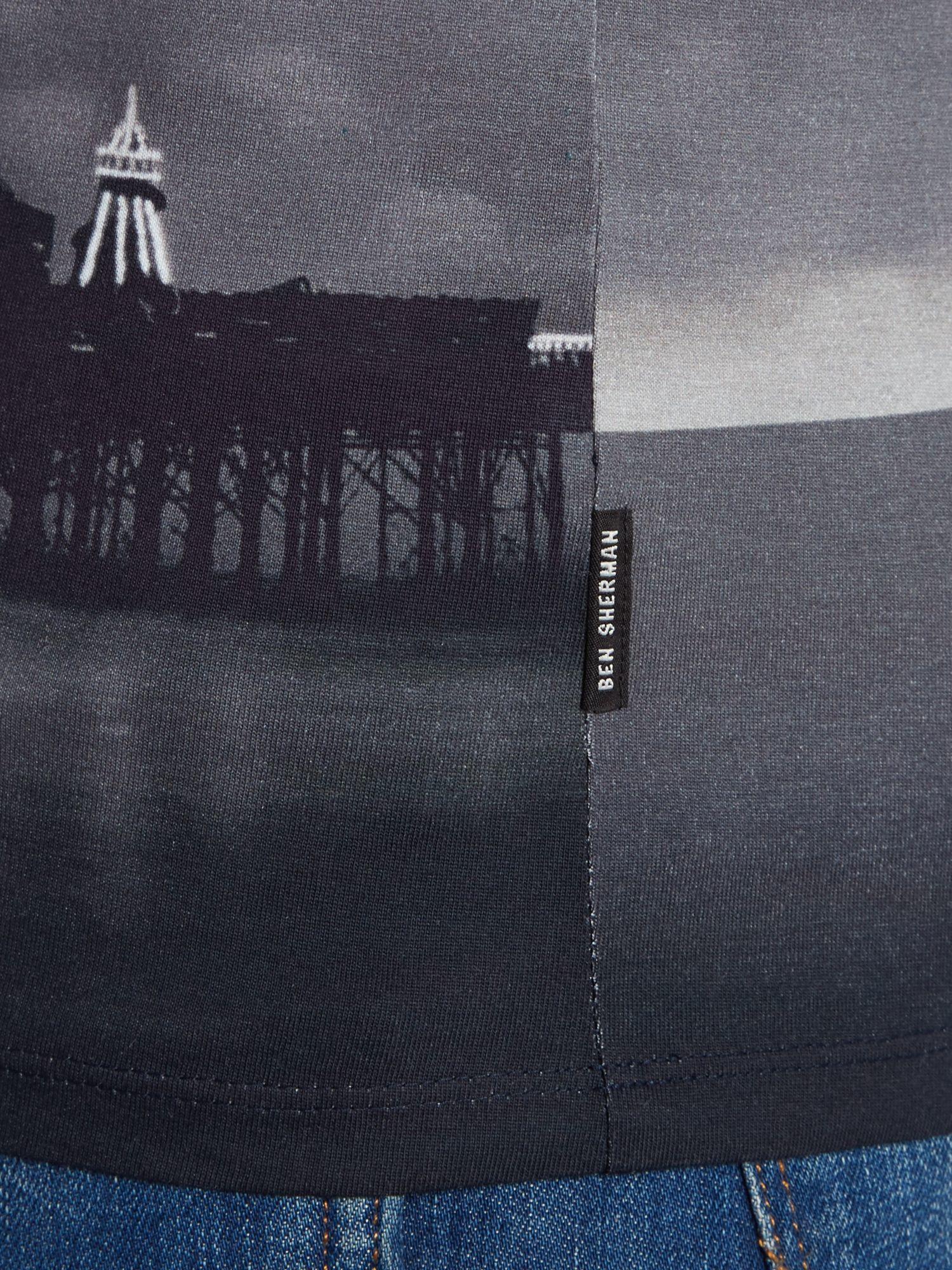Lyst ben sherman brighton cloud print t shirt in black for Brighton t shirt printing