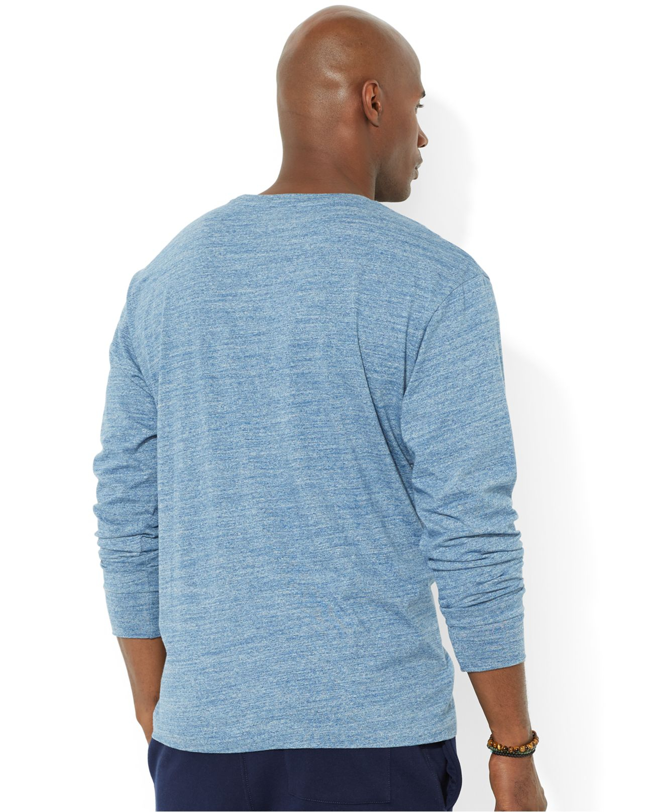Lyst polo ralph lauren big and tall crew neck pocket t for Big and tall polo t shirts