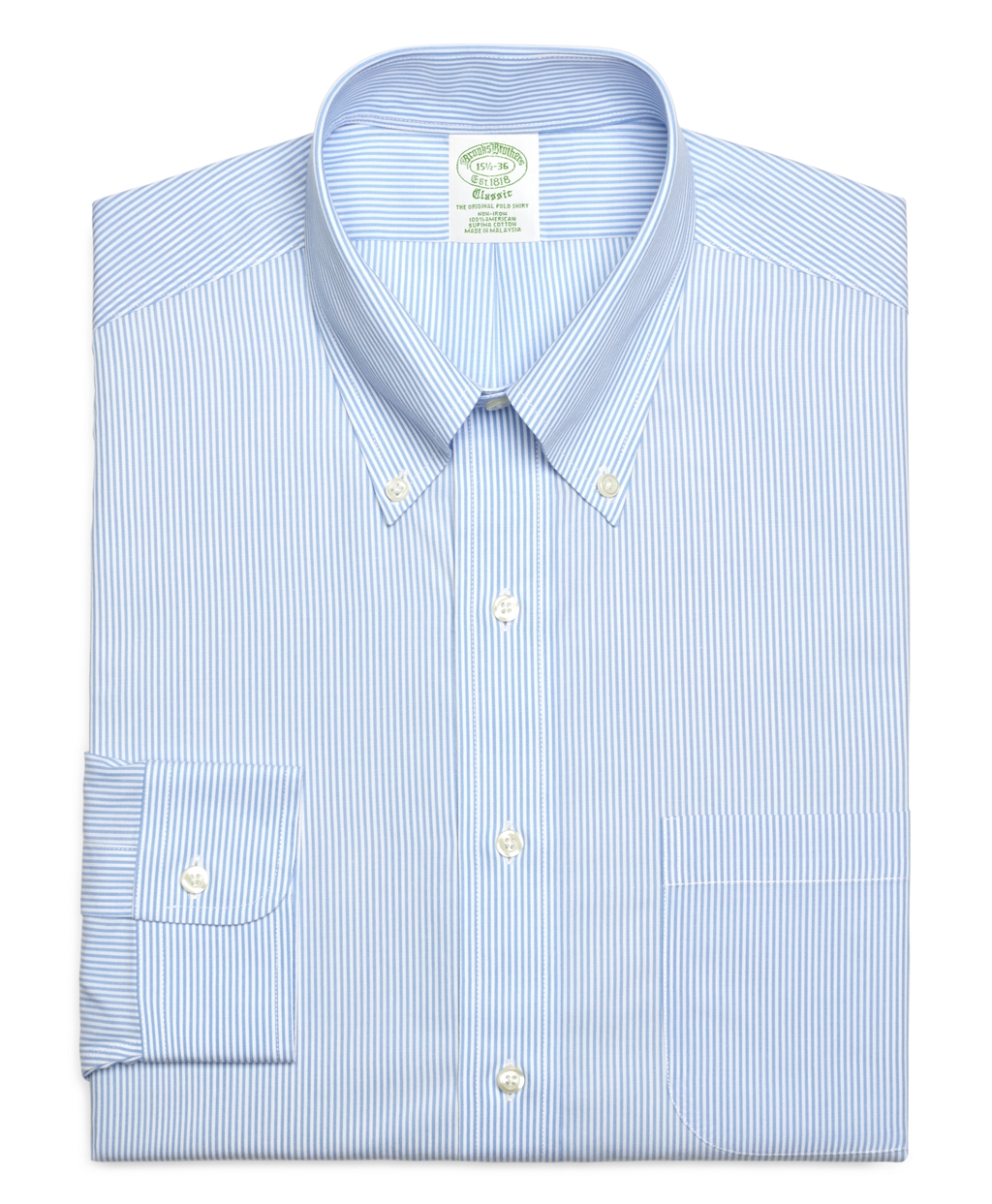 Lyst brooks brothers non iron slim fit candy stripe for Extra trim fit dress shirt