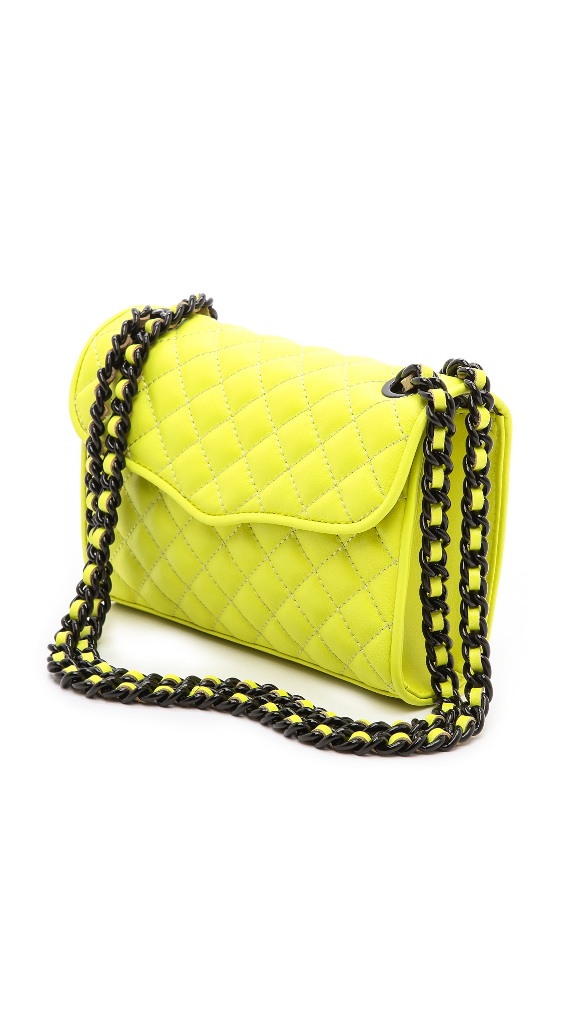 Rebecca Minkoff Quilted Mini Affair Bag In Yellow Lyst