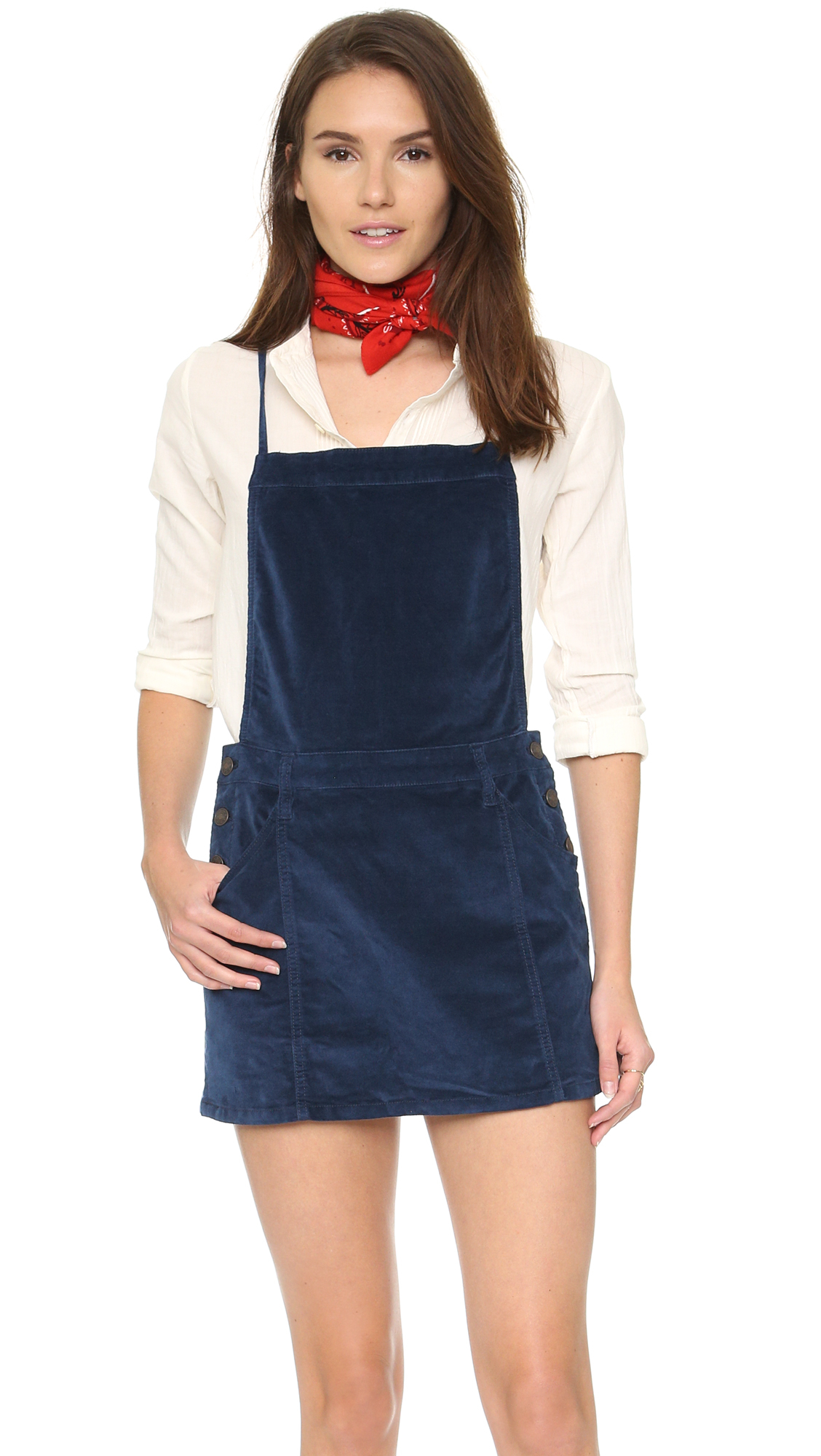 Blue apron dress - Gallery