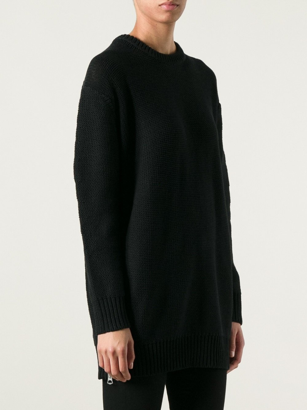 lyst acne studios oversized sweater in black. Black Bedroom Furniture Sets. Home Design Ideas