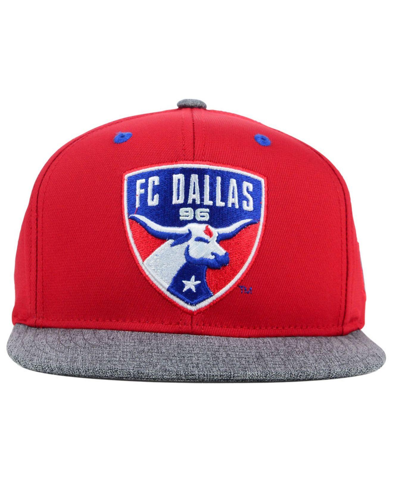 low priced ab07e b4902 Lyst - adidas Originals Fc Dallas Team Snapback Cap in Red for Men