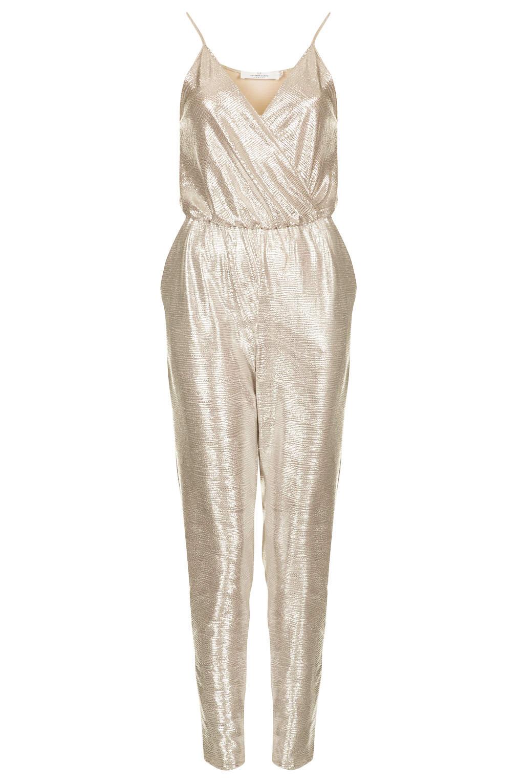 Topshop Silver Jumpsuit