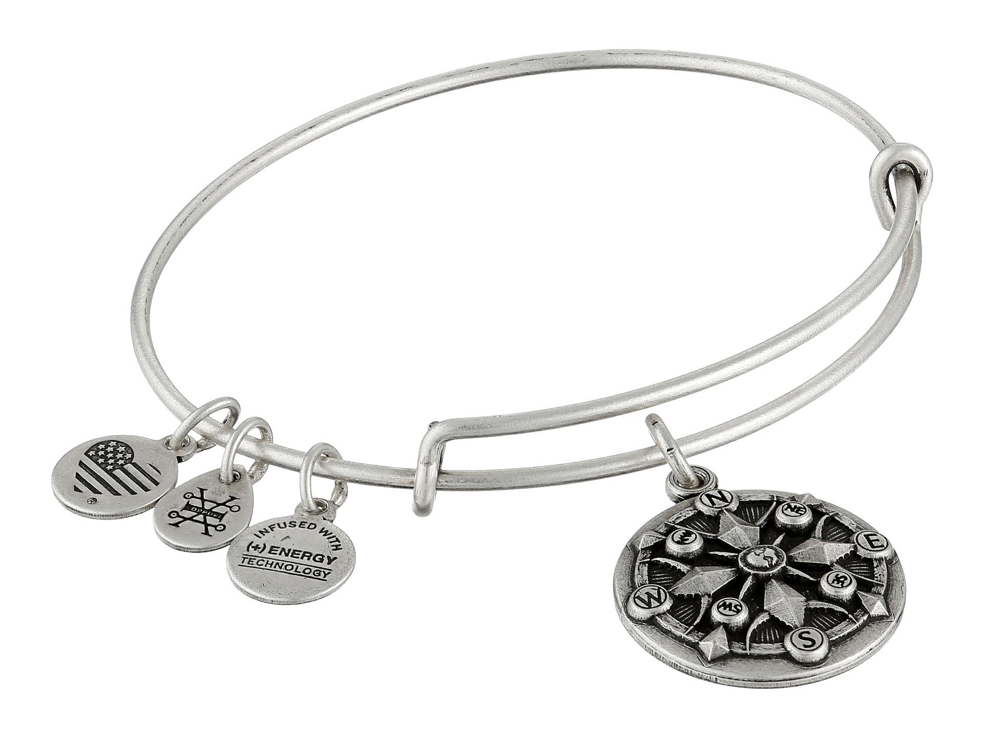 alex and ani compass ii bracelet in metallic lyst
