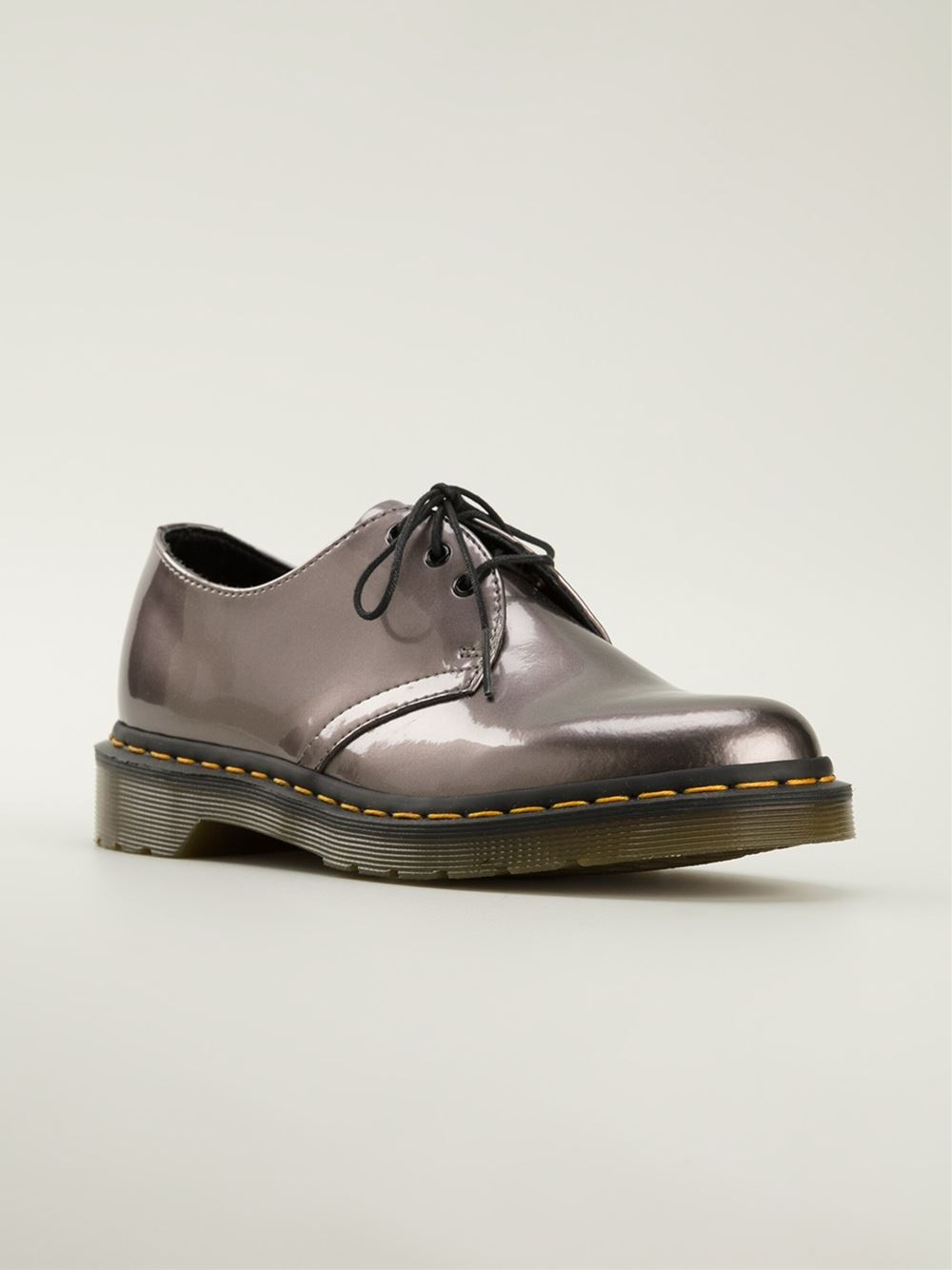 c407c5863b552 Dr. Martens '1460' Lace-Up Shoes in Metallic - Lyst