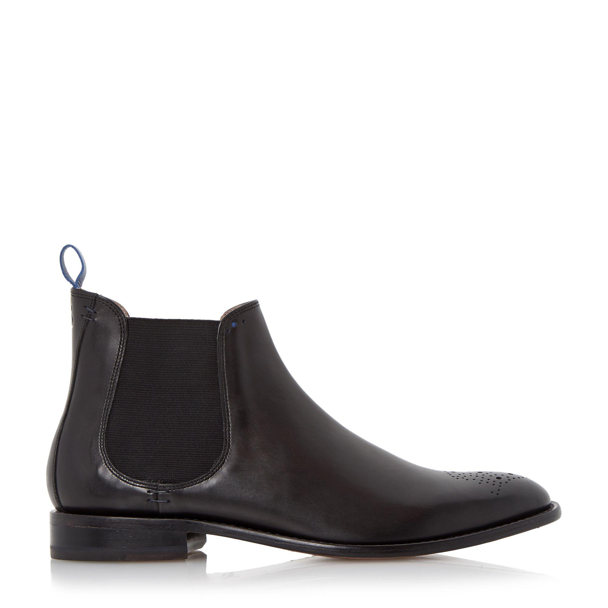 oliver sweeney black silsden brogue toe chelsea boots for men lyst. Black Bedroom Furniture Sets. Home Design Ideas