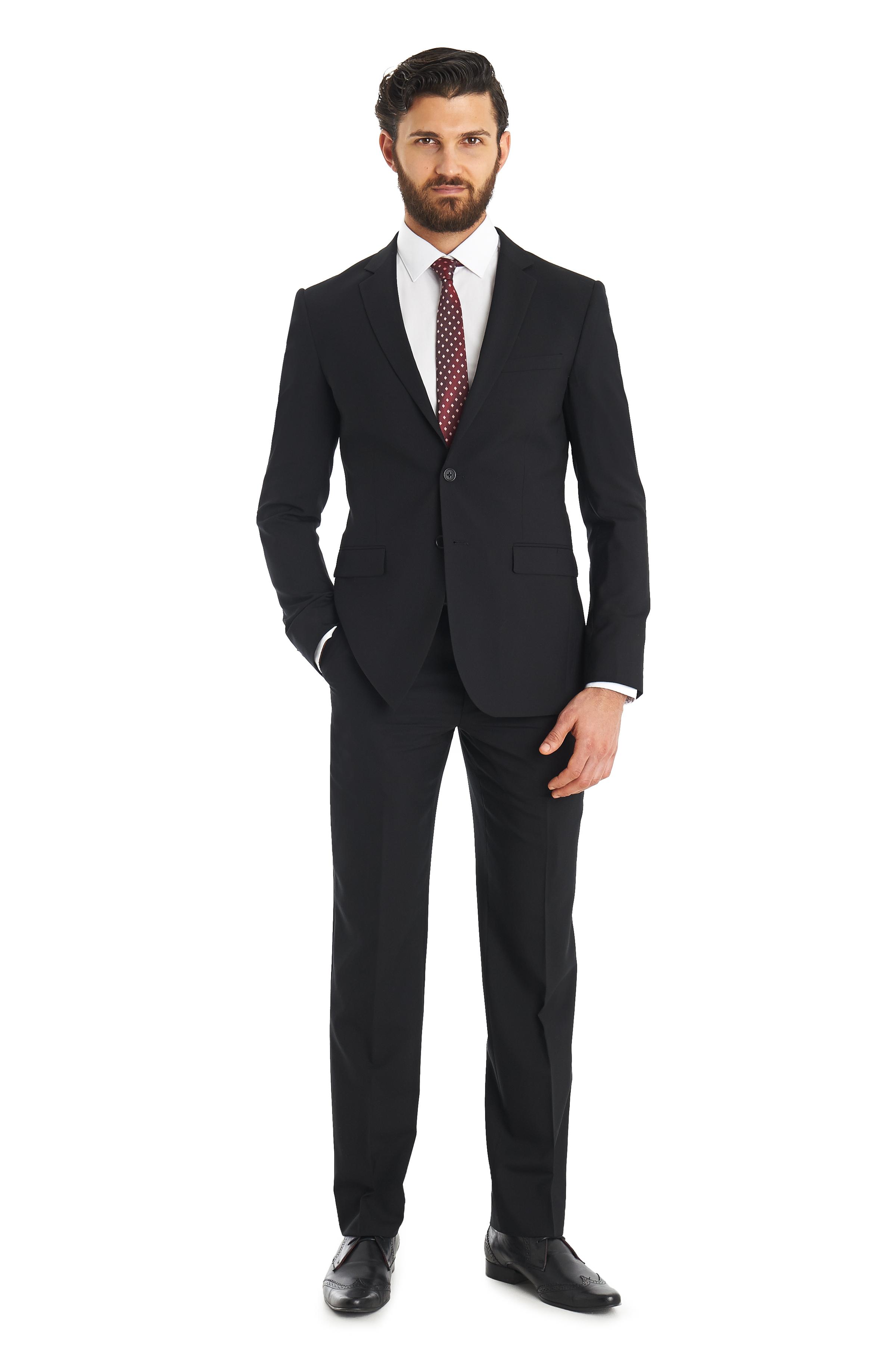 Lyst - Dkny Slim Fit Black 2 Piece Suit in Black for Men