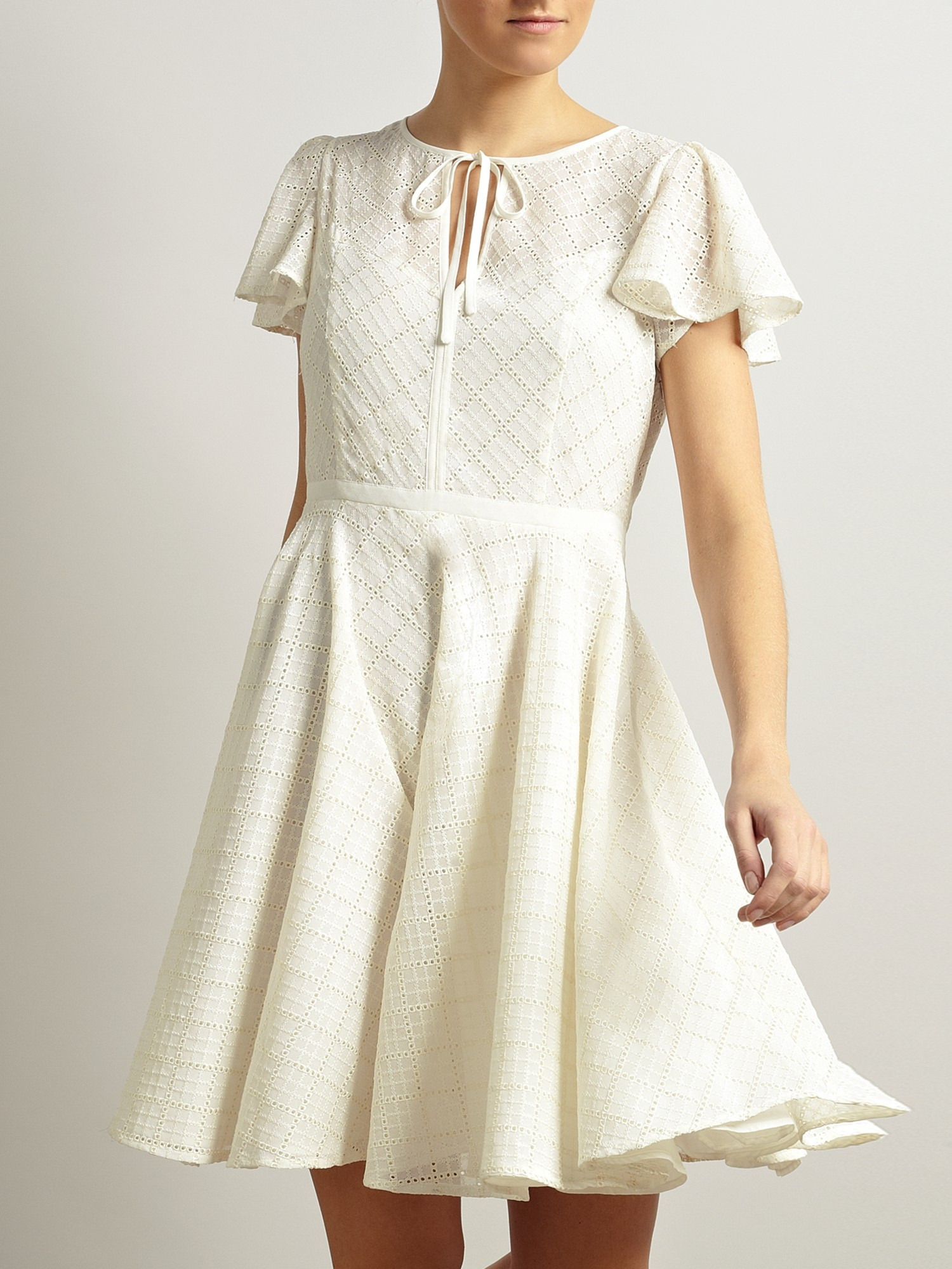 55f61affa9b80 Somerset by Alice Temperley Broderie Dress in Natural - Lyst