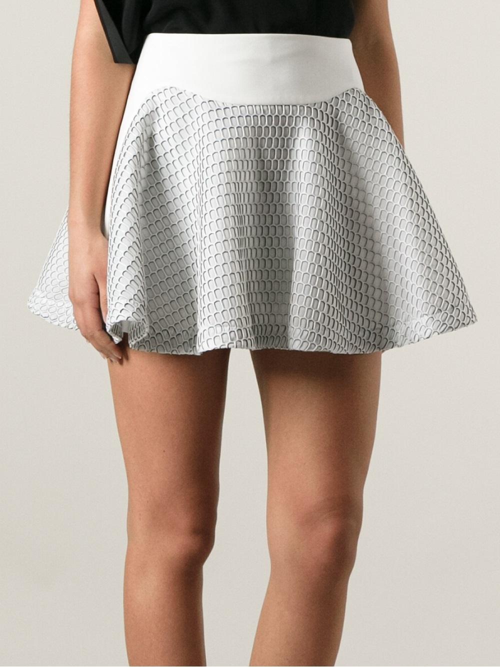 Jay ahr Mini Flared Skirt in Gray | Lyst
