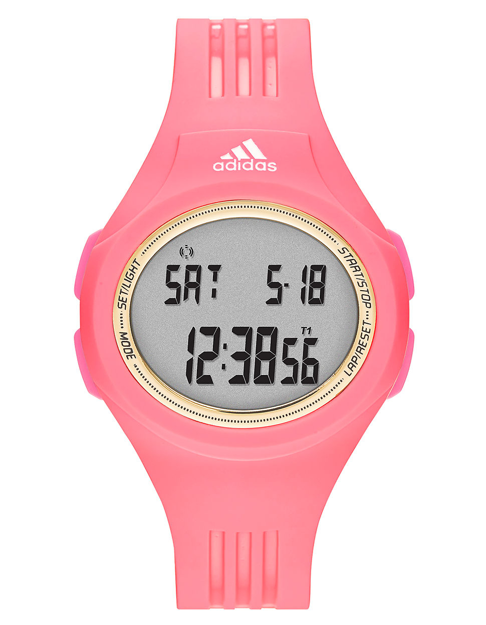 Adidas Watches For Women Pink Adh3017 Aberdeen Red Dial Rubber Strap
