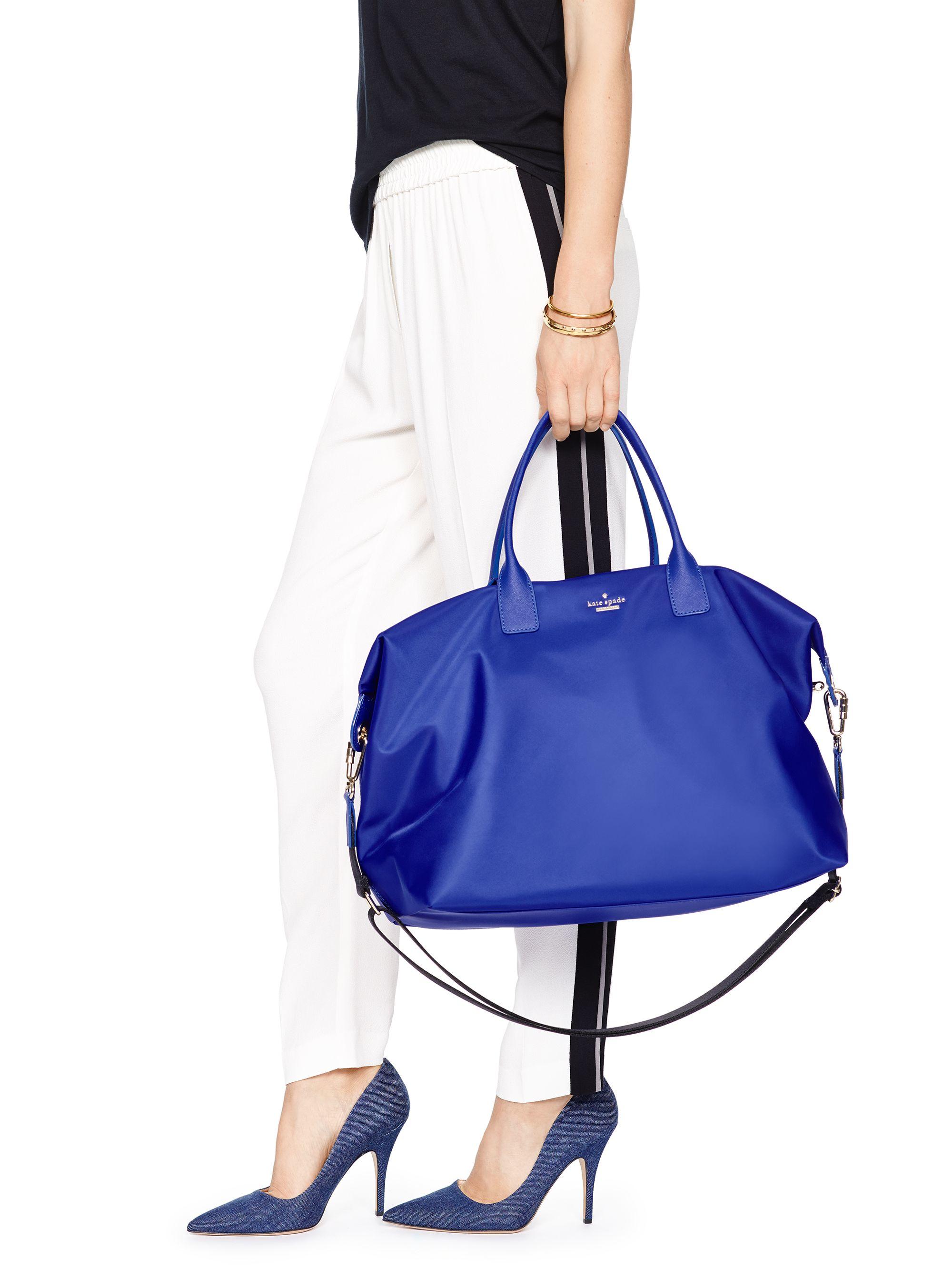 Kate spade new york Classic Nylon Lyla Weekender in Blue | Lyst