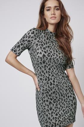 TOPSHOP Animal Print Bodycon Dress - Polyvore