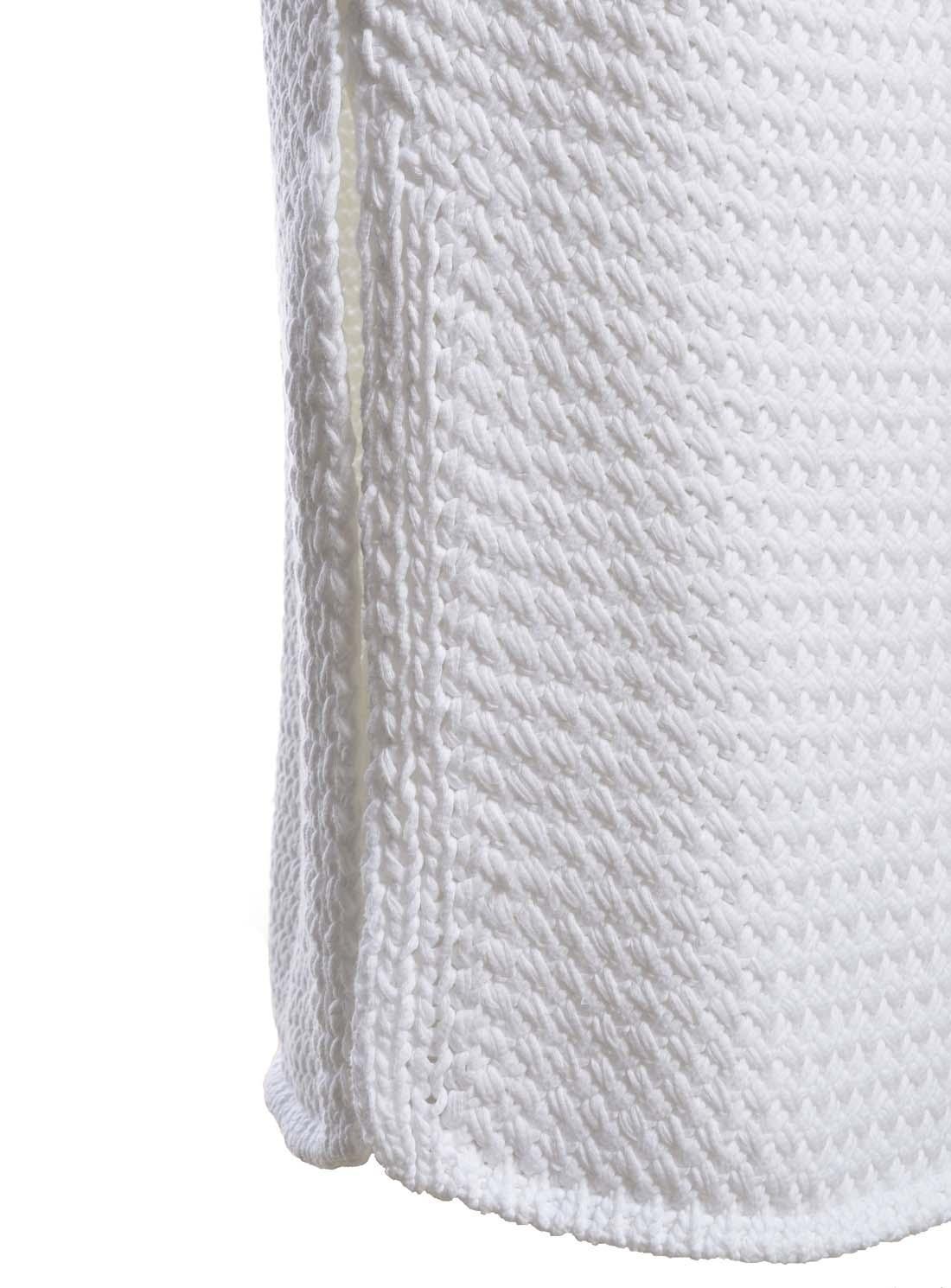ldn starsky white cotton knit midi skirt in white lyst