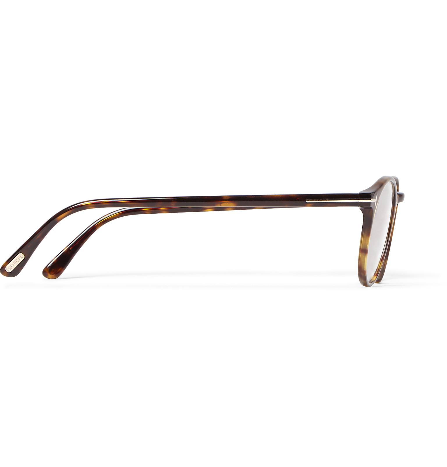 2c312528835 Lyst - Tom ford Round-frame Tortoiseshell Acetate Optical Glasses in Brown  for Men