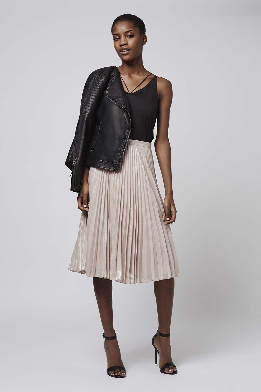 629fdbd895 Topshop Pink Pleated Midi Skirt – DACC