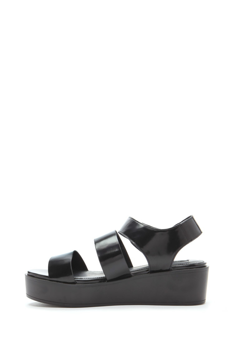 Black jelly sandals forever 21