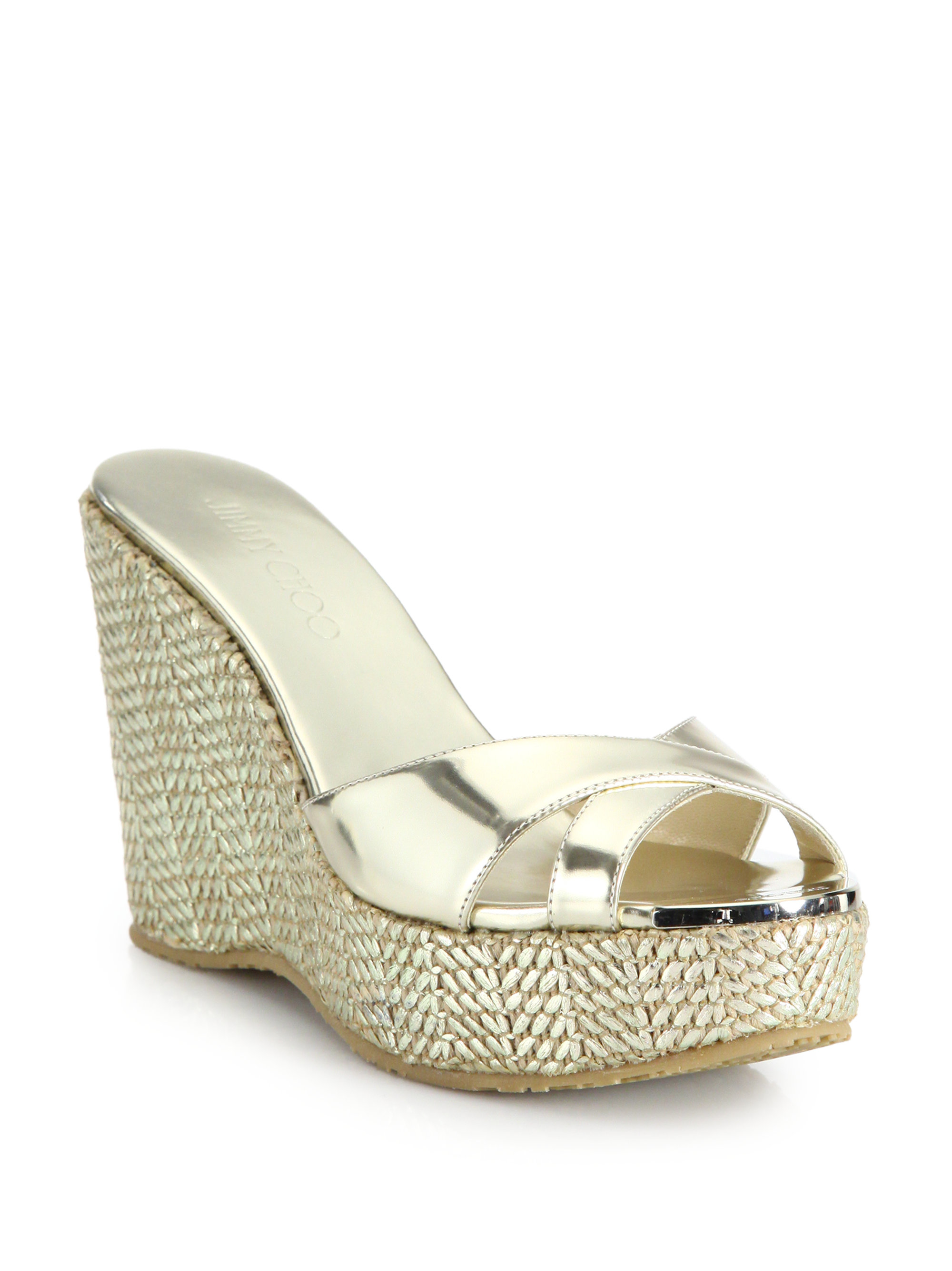 store sale Jimmy Choo Jewel-Embellished Leather Wedges cheap sale eastbay low shipping cheap price cheap sale get to buy PPMQ7PLi