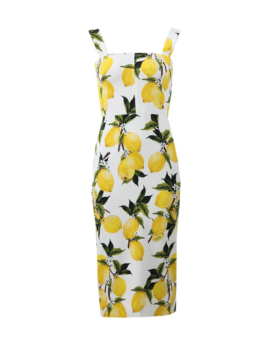 Lyst - Dolce   Gabbana Lemon Print Dress in Yellow 2e64e489f20a9