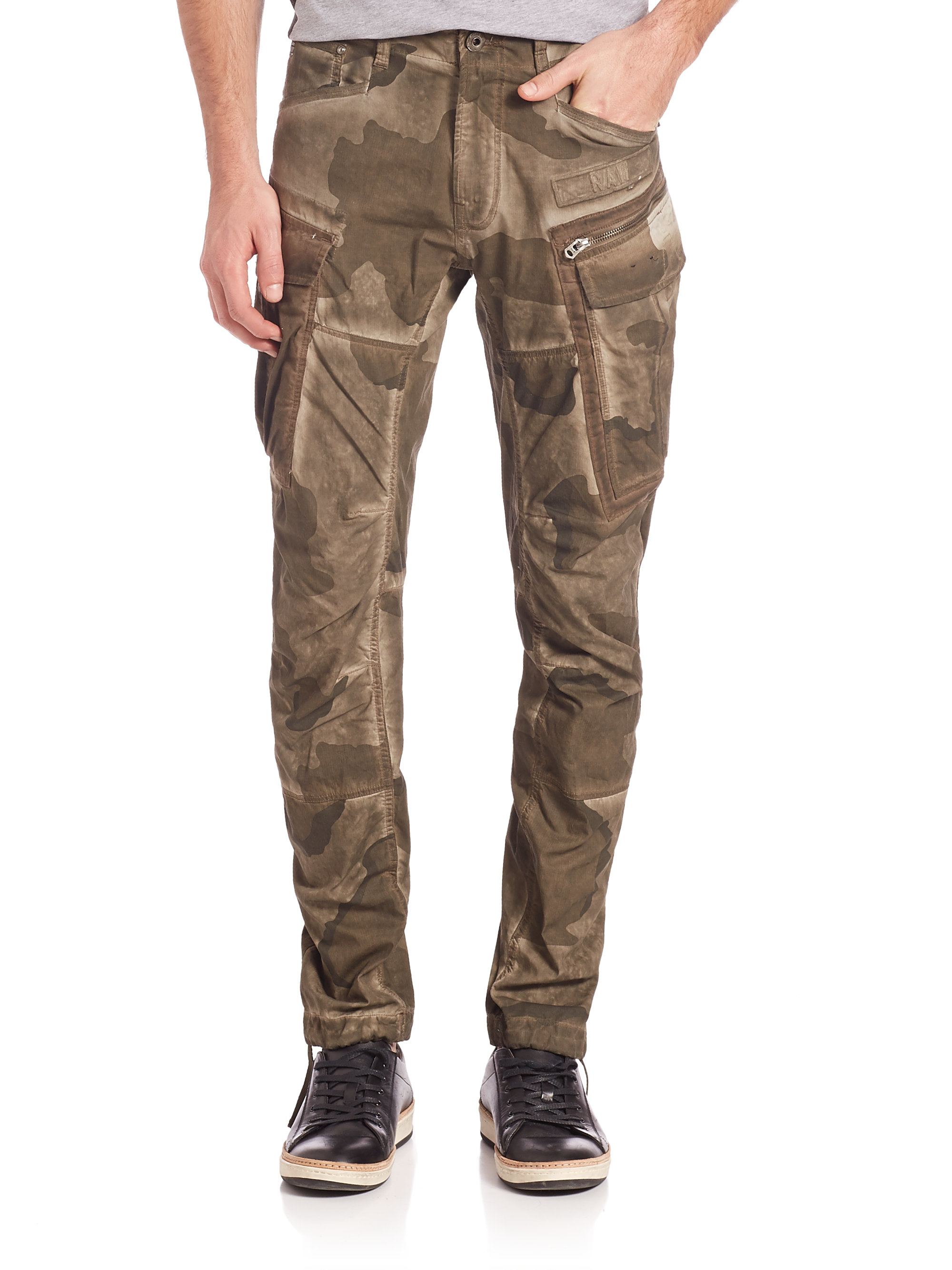 g star raw camouflage slim fit jeans in natural for men lyst. Black Bedroom Furniture Sets. Home Design Ideas
