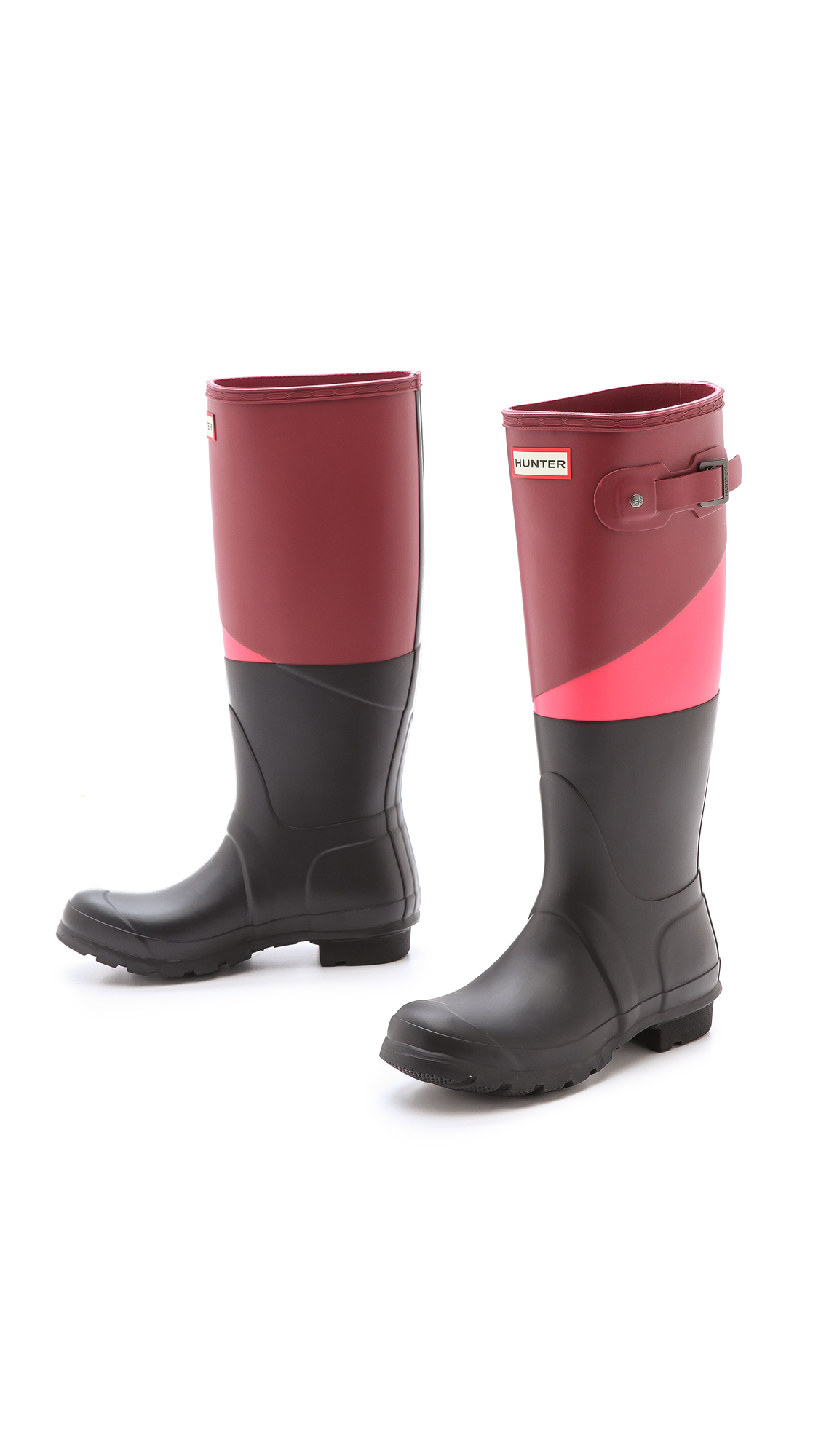 Lyst Hunter Original Asymmetrical Colorblock Boots