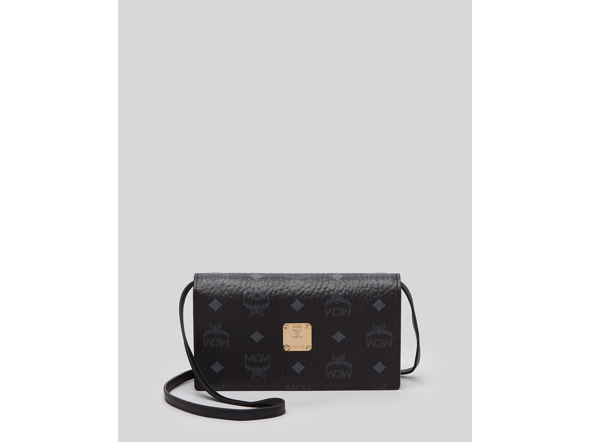 Lyst - Mcm Crossbody - Visetos Colorblock Wallet in Black