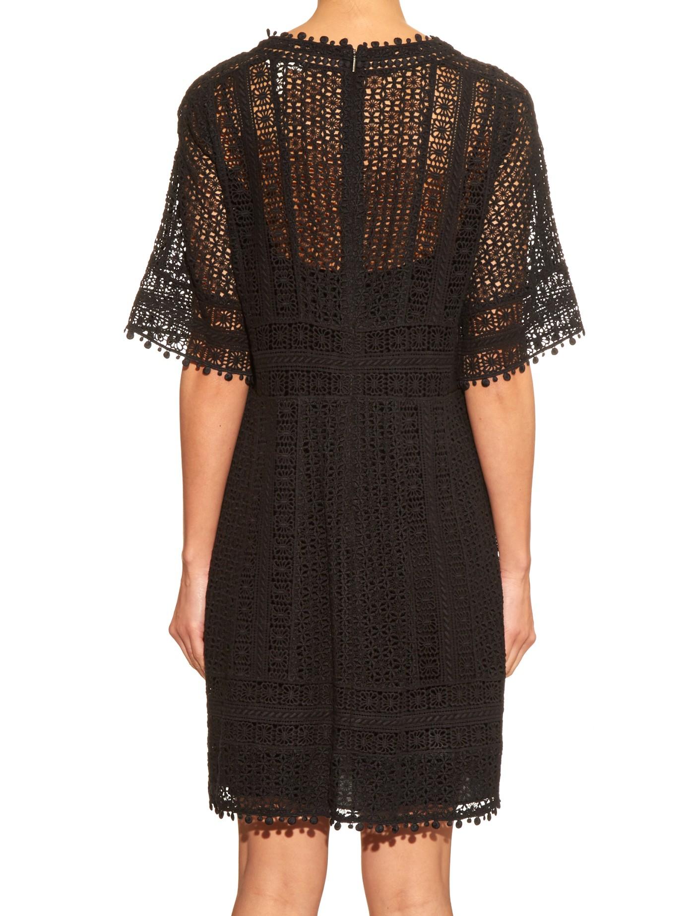 Rebecca Taylor Guipure Lace Dress In Black Lyst