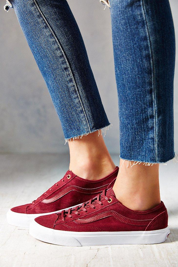98a09cfb8ee Lyst - Vans Suede 36 Slim Low-Top Women S Sneaker in Purple