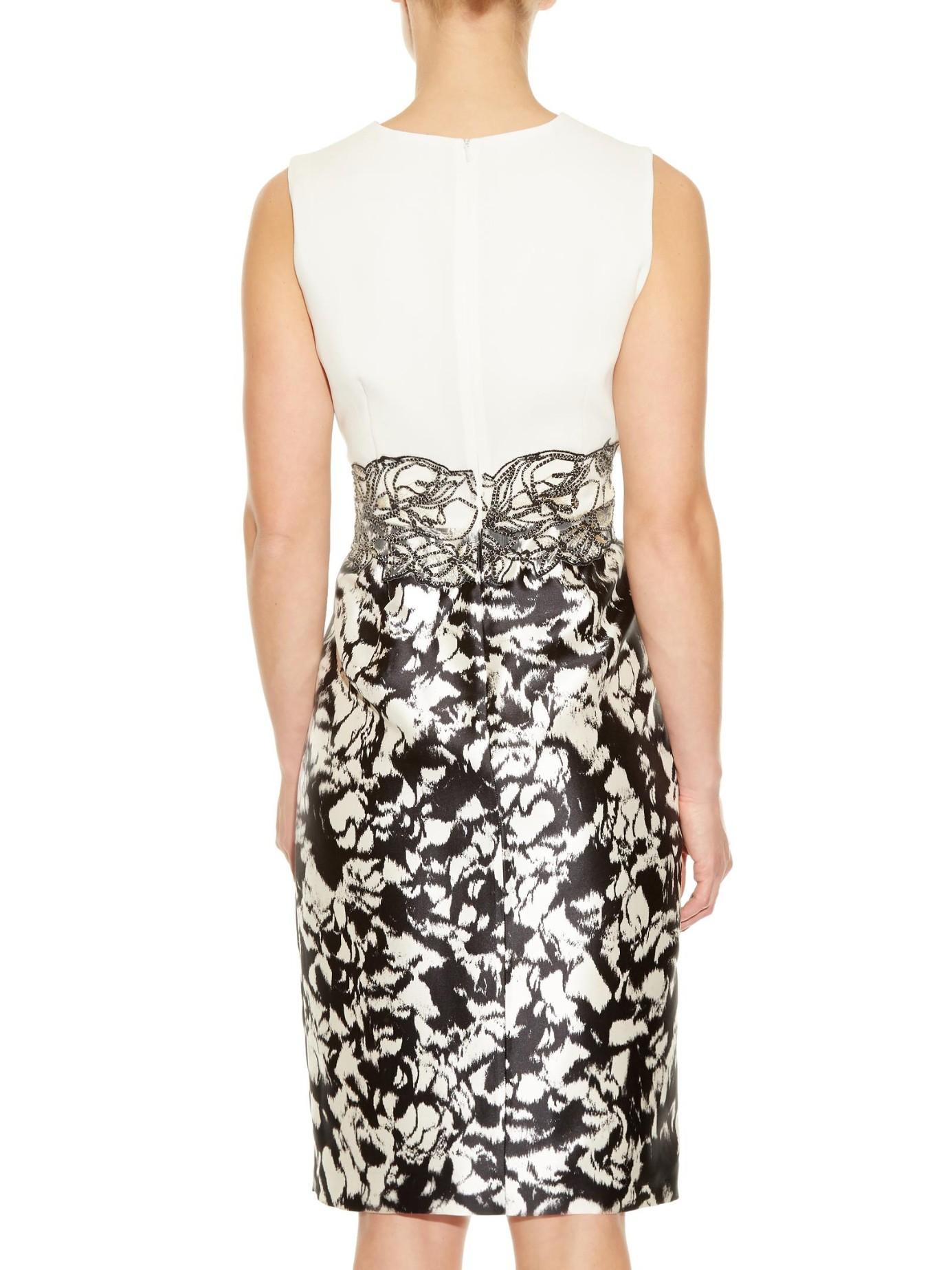 Lyst Max Mara Elegante Amarena Dress In Black