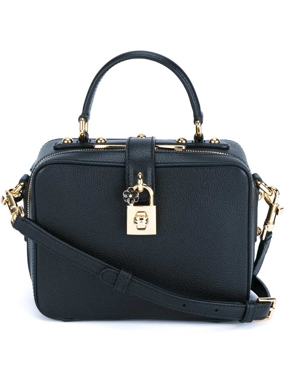ff7f62d1e7a1 Lyst - Dolce   Gabbana Rosaria Box Lock Bag in Black