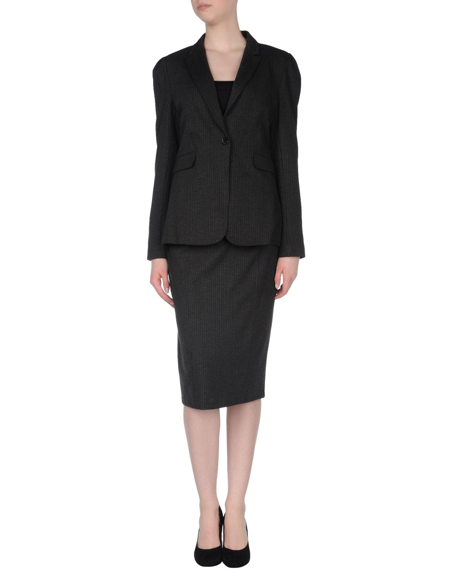 burberry womens skirt suit in gray steel grey lyst