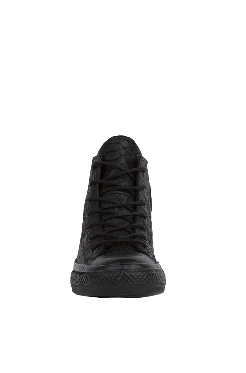 92842b26e4d9 Lyst - Converse Chuck Taylor All Star Lux Embossed Reptile Mid Top ...