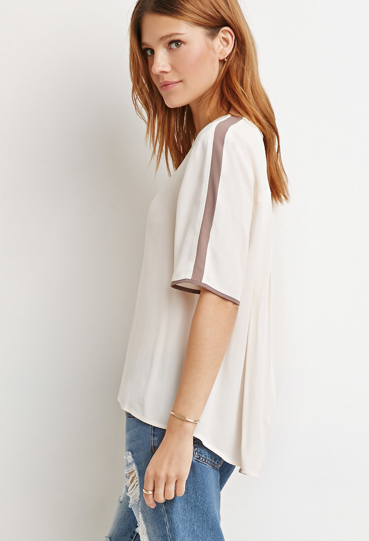 Womens White Crepe Blouse 85