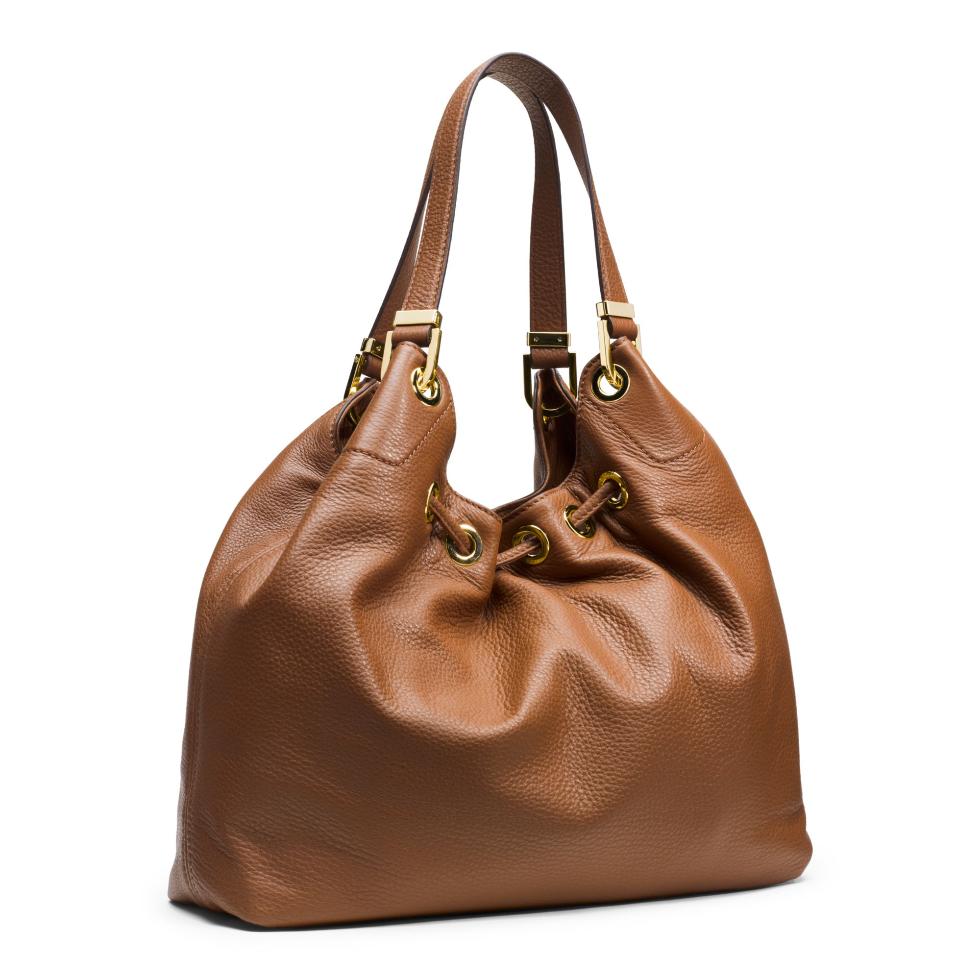5a43d0a4cc35 Michael Kors Camden Large Leather Shoulder Bag in Brown - Lyst