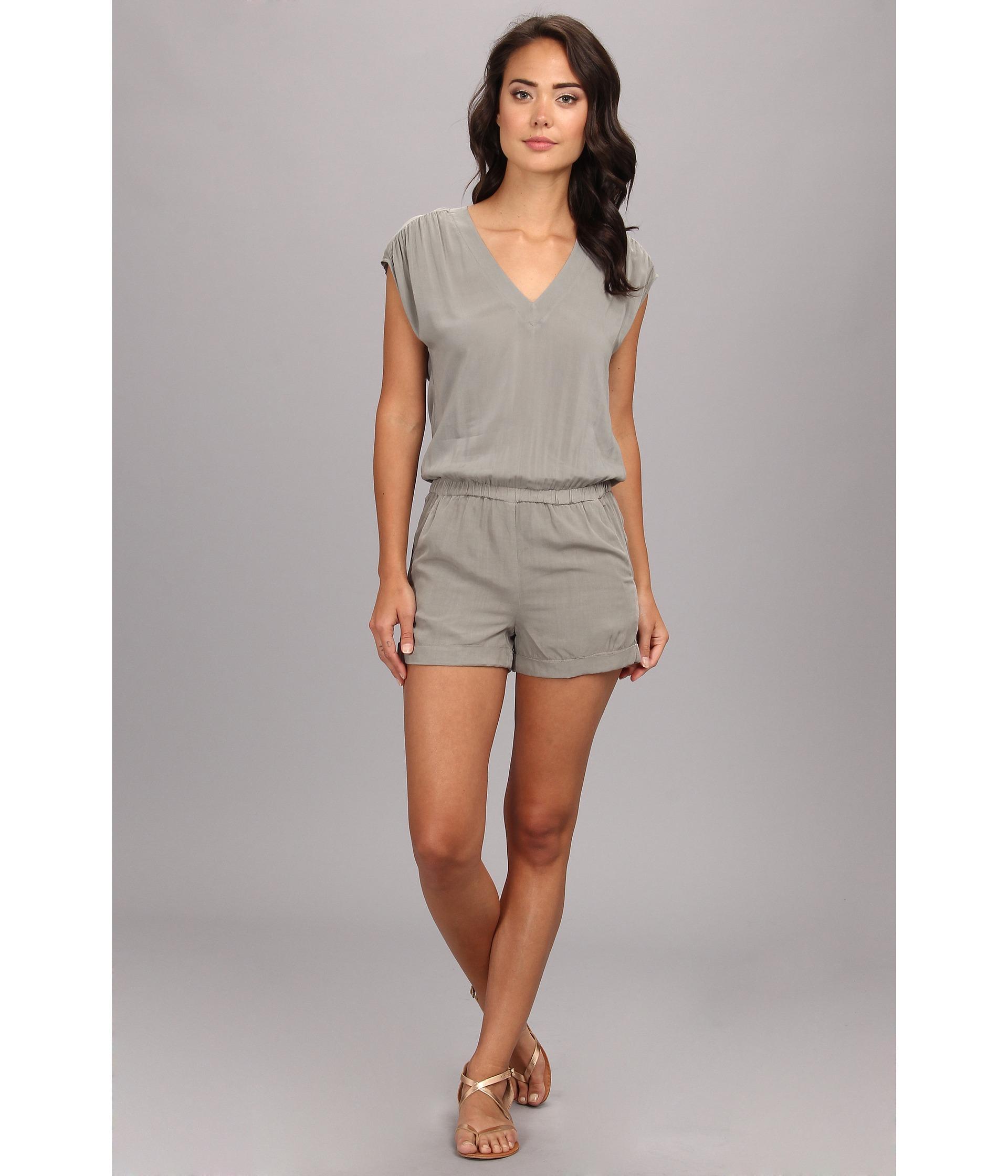 42a6a3158978 Lyst - Splendid Short Romper in Gray