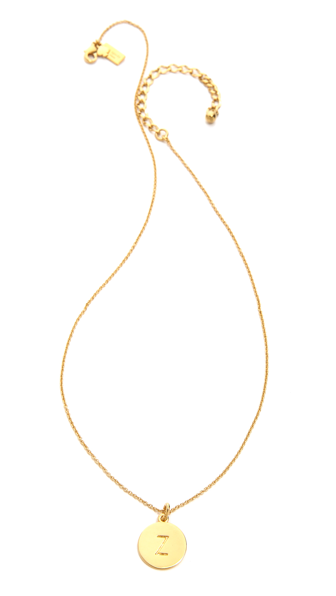 kate spade letter pendant necklace in metallic lyst