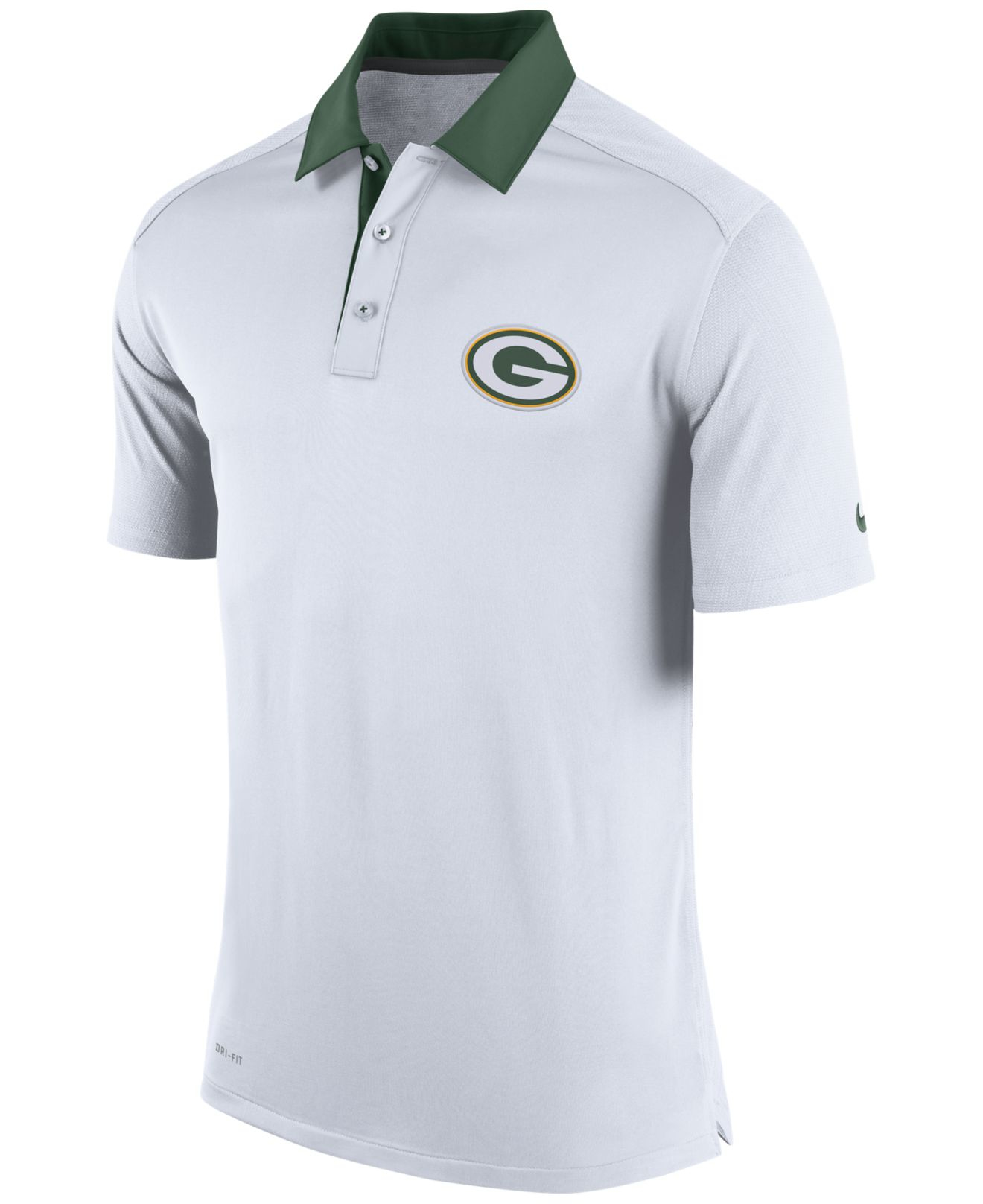 Lyst - Nike Men s Green Bay Packers Elite Coaches Polo in White for Men 2a8c566a3