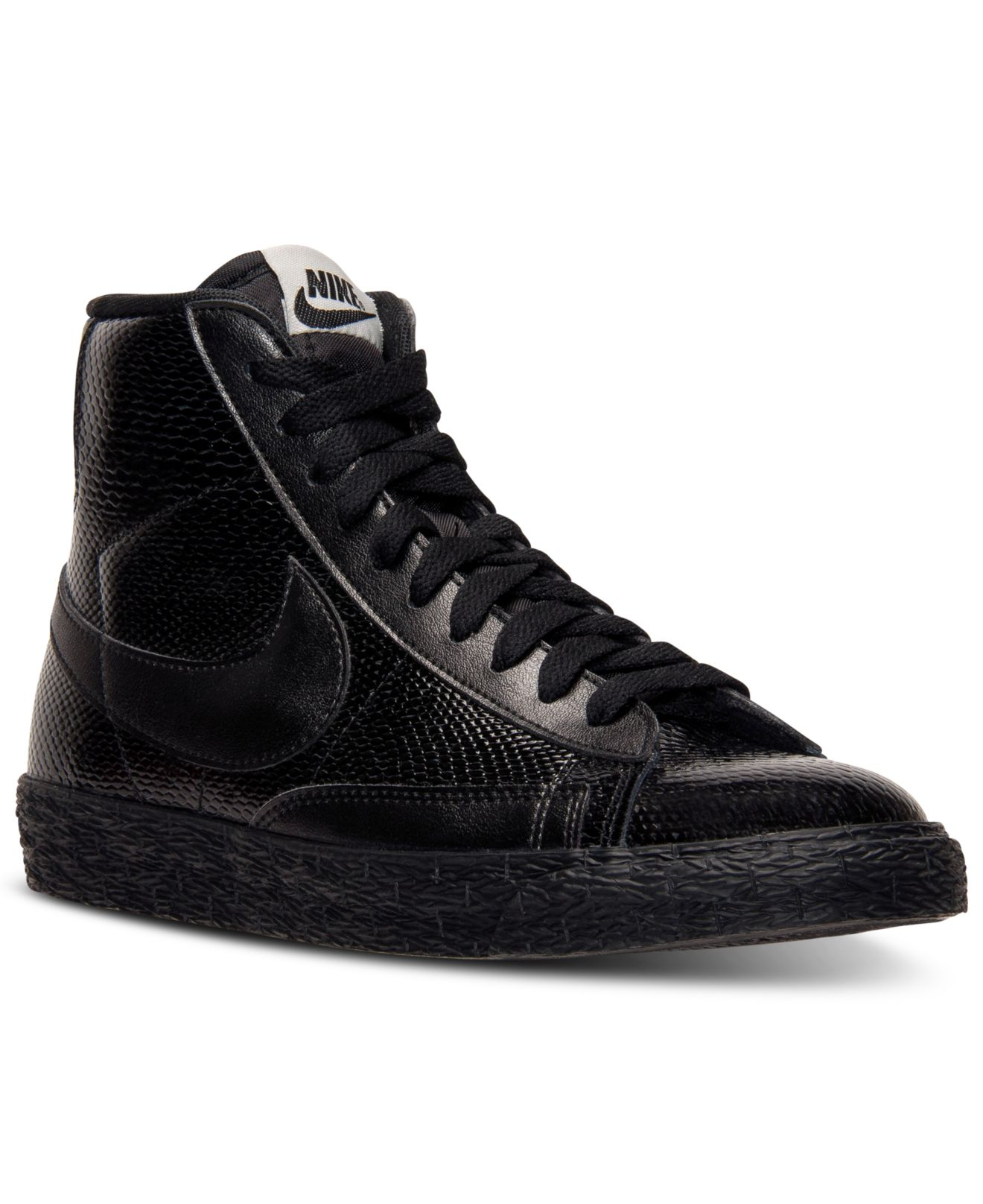 28364fcaff61 Lyst - Nike Women S Blazer Mid Leather Premium Casual Sneakers From ...