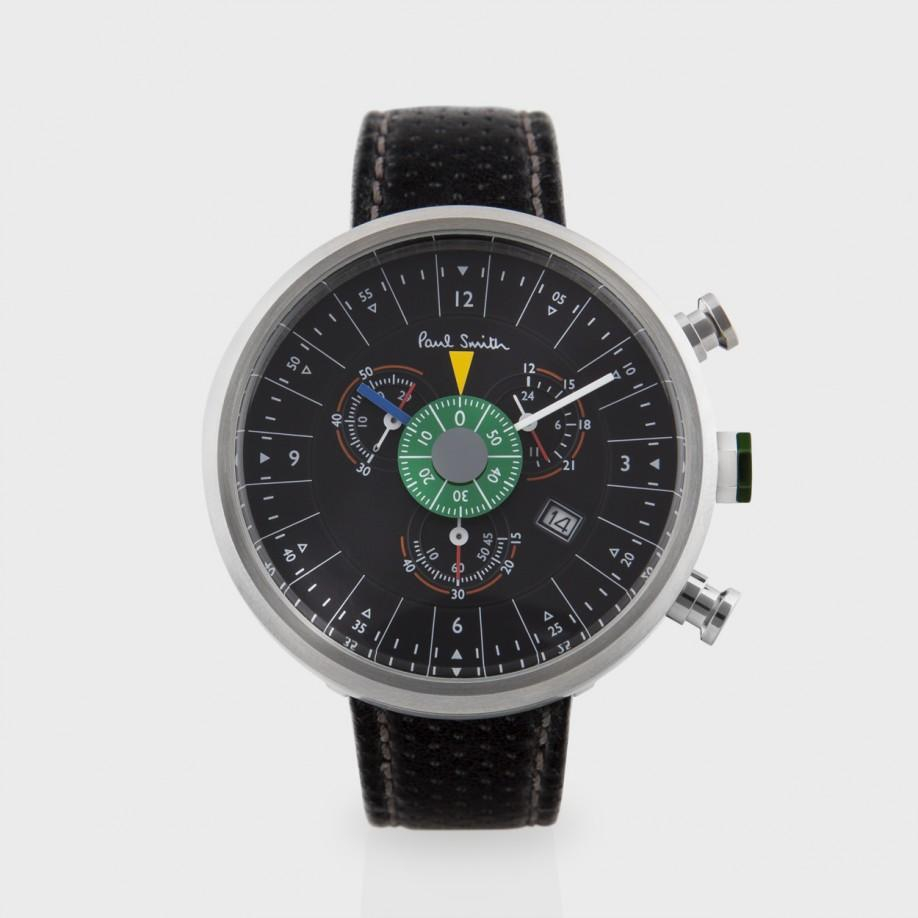 paul smith 531 black chronograph in black for lyst
