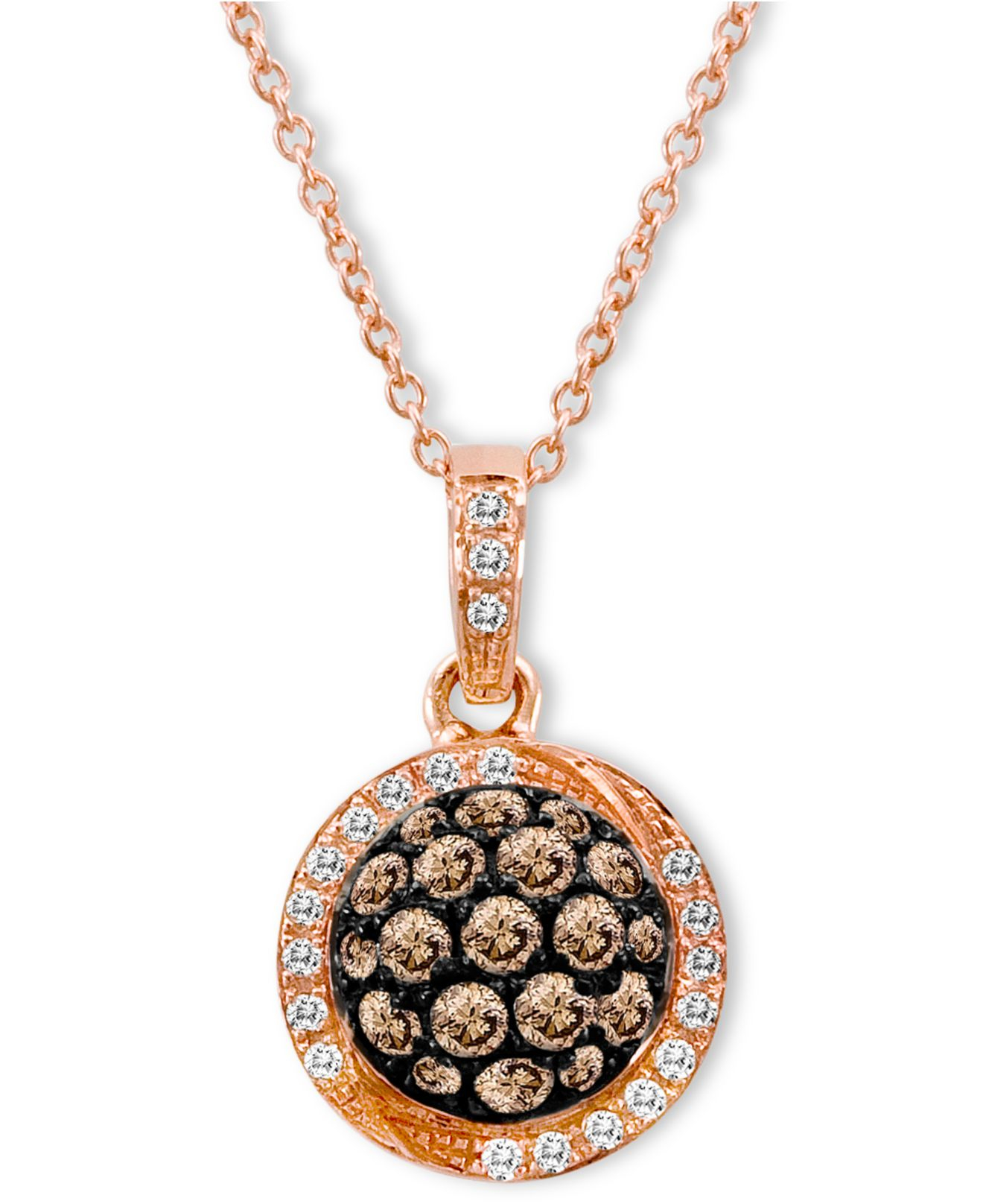 diamond white chocolate davies product gold necklace diamonds pendant brown and edwards round
