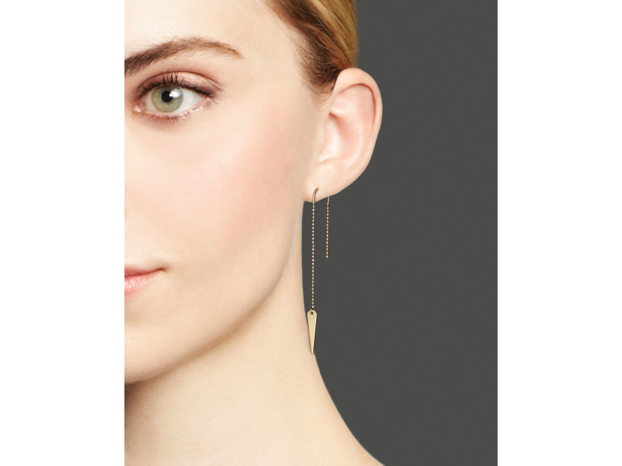 8af65cac1 Zoe Chicco 14k Gold Thorn Drop Earrings in Metallic - Lyst