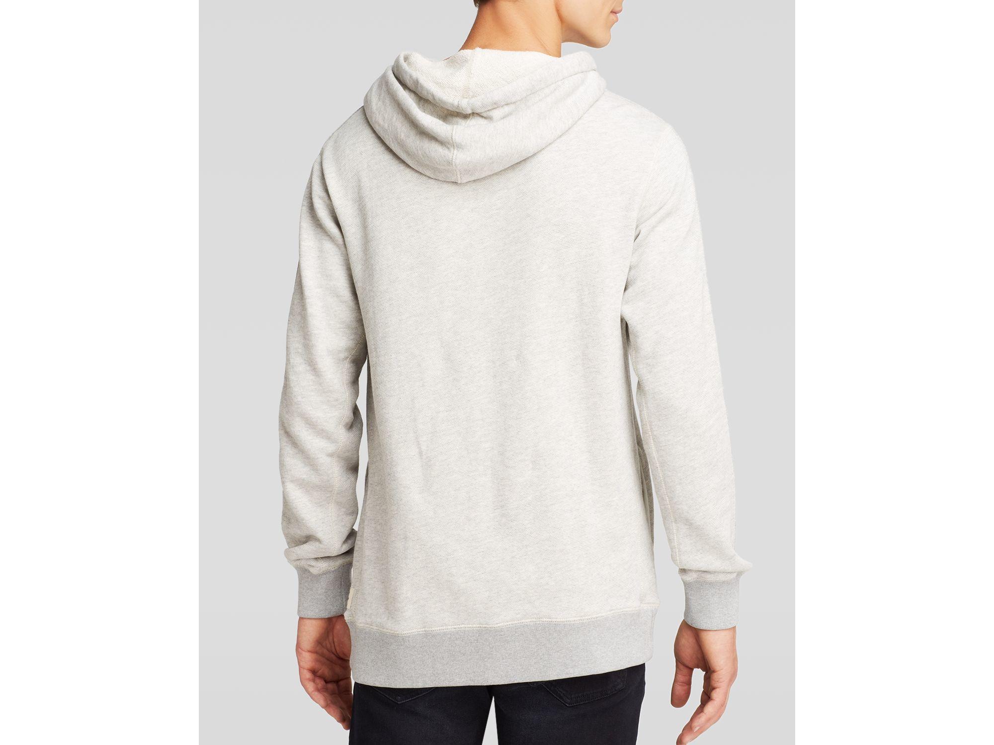 scotch soda funnel neck pullover hoodie in gray for men. Black Bedroom Furniture Sets. Home Design Ideas