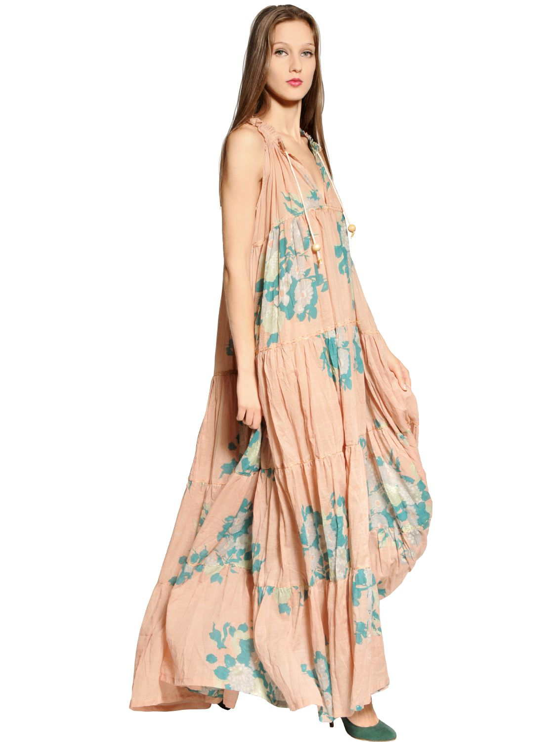 Cotton knit A-line dress offers all day style without sacrificing comfort. Wrinkle resistant A-line dress in floral print gently glides along the body and features rounded neckline/5(75).
