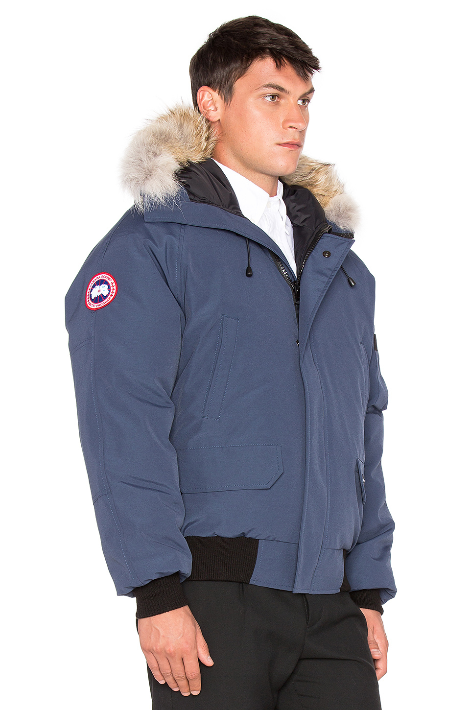 Canada goose Chilliwack Coyote Fur Trim Bomber in Blue for Men ...