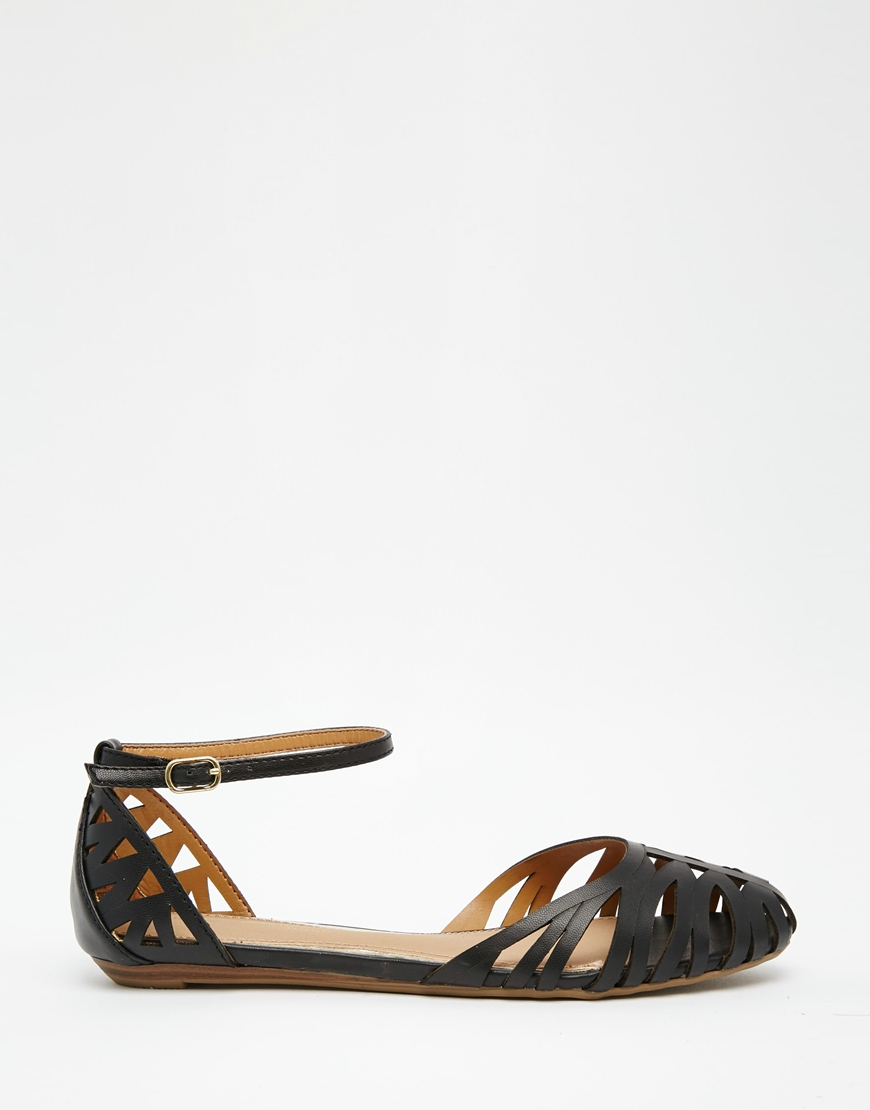 Dune By Dune Haidyn Black Cut Out Flat Shoes In Black   Lyst