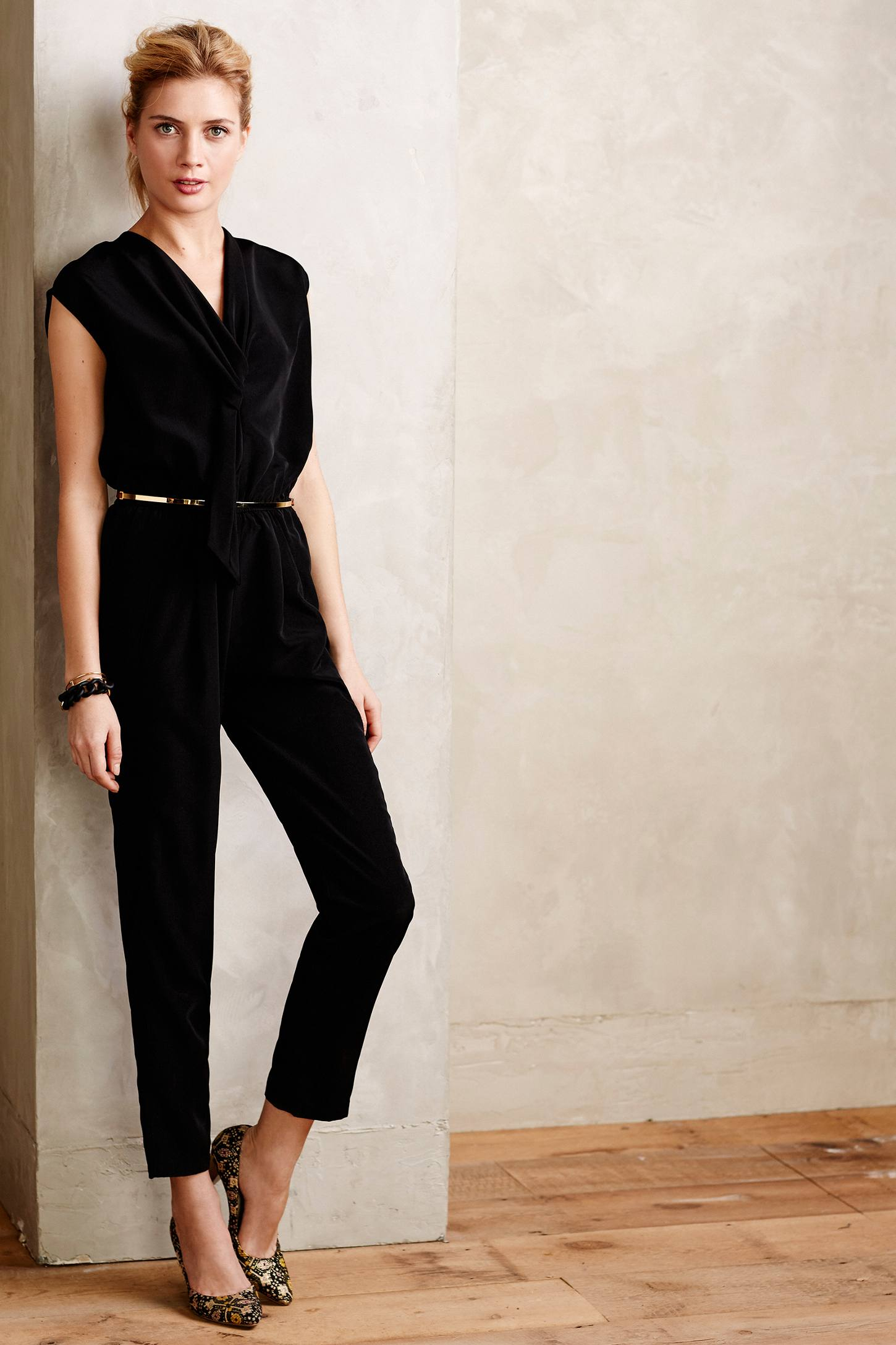 Eva franco Vista Petite Jumpsuit in Black | Lyst