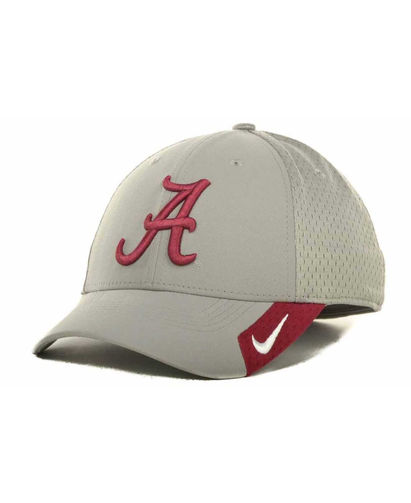695e319beb9 ... discount code for lyst nike alabama crimson tide mesh swooshflex cap in  gray for men c2478