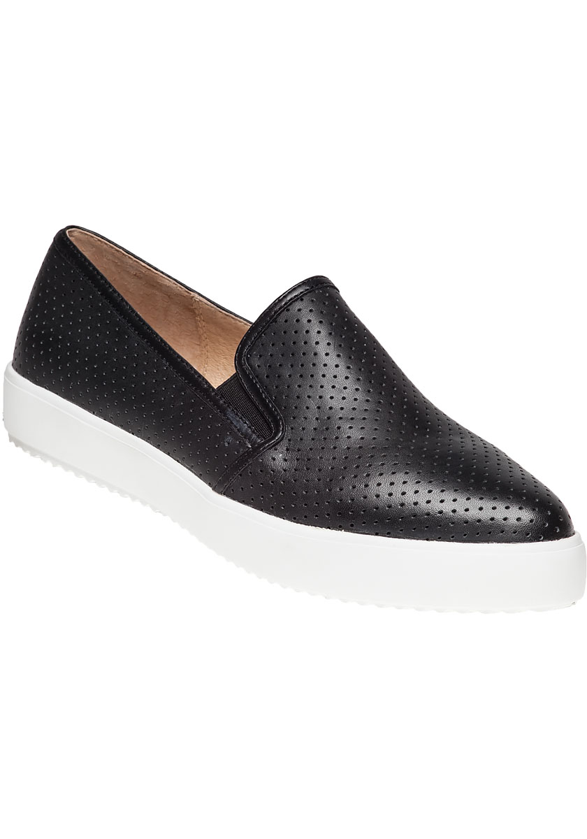 J Slides D Perf Black Slip On Platform Sneaker In Black Lyst