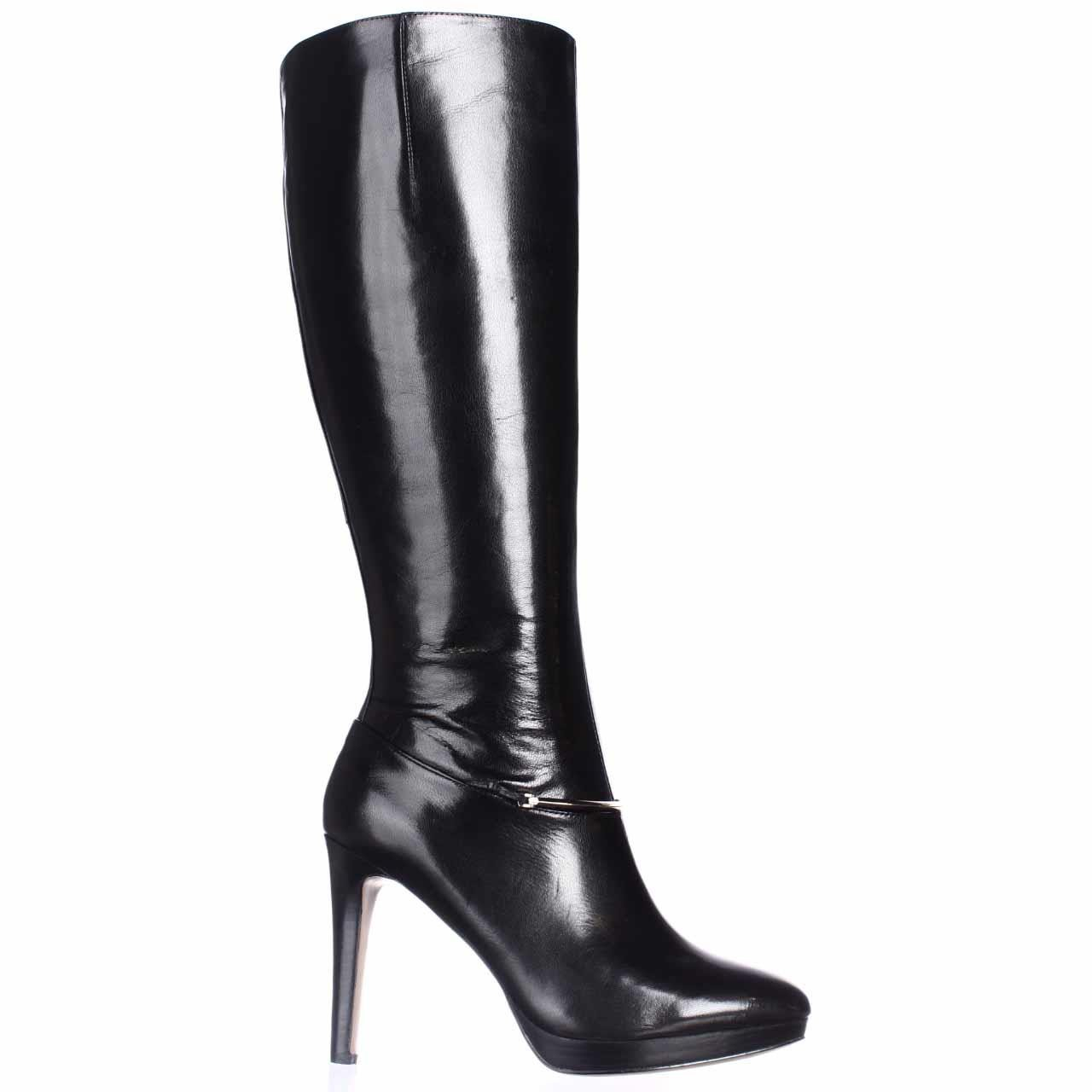 Nine west Pearson Wide-calf Knee High Boots in Black | Lyst