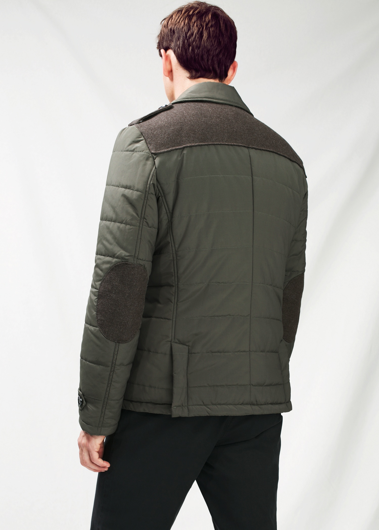 Mango Quilted Peacoat in Green for Men | Lyst : quilted pea coat - Adamdwight.com